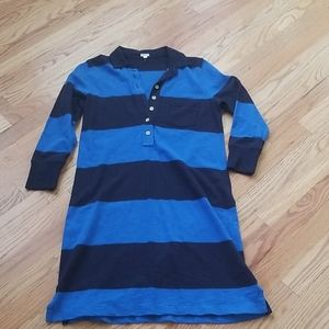 J. Crew rugby style shirt dress size small